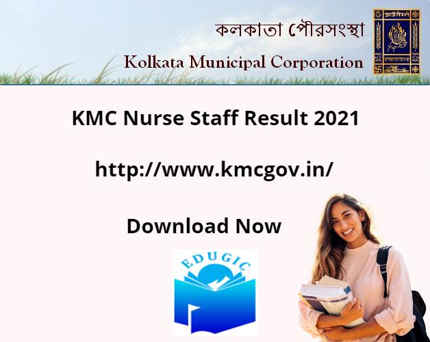 KMC Nurse Staff Result 2021