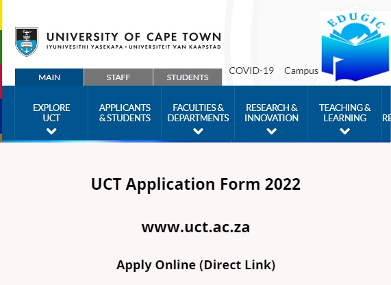 UCT Application Form 2022