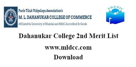 Dahanukar College 2nd Merit List