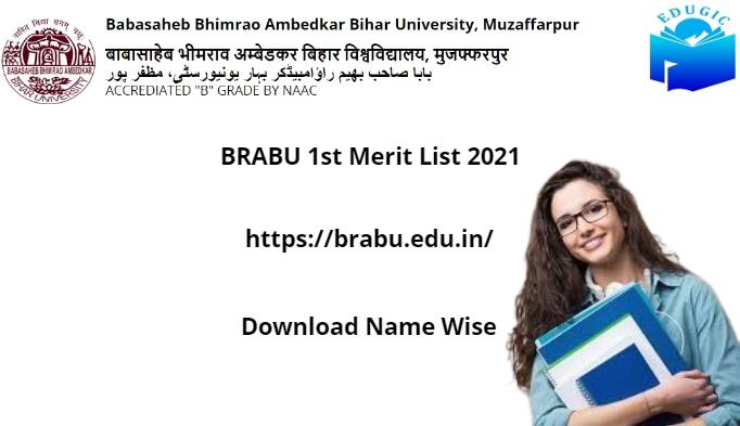 BRABU 1st Merit List 2021