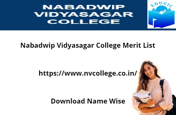 Nabadwip Vidyasagar College Merit List 2021