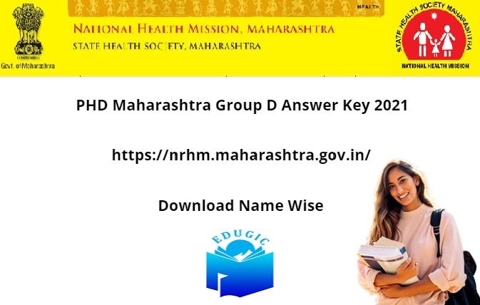 PHD Maharashtra Group D Answer Key 2021