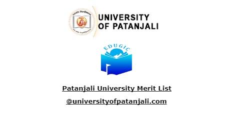 Patanjali University Merit List
