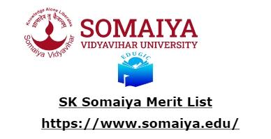 SK Somaiya Merit List