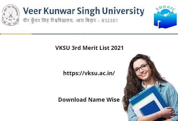 VKSU 3rd Merit List 2021