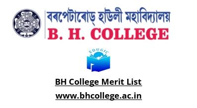 BH College Merit List