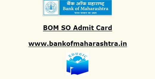 BOM SO Admit Card