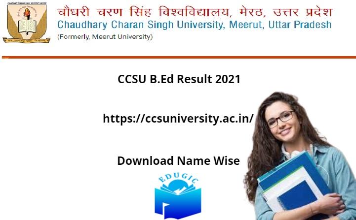 CCSU B.Ed Result 2021