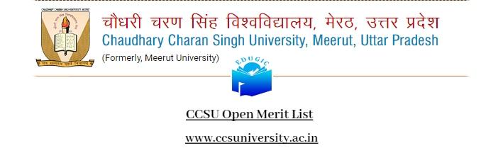 CCSU Open Merit List