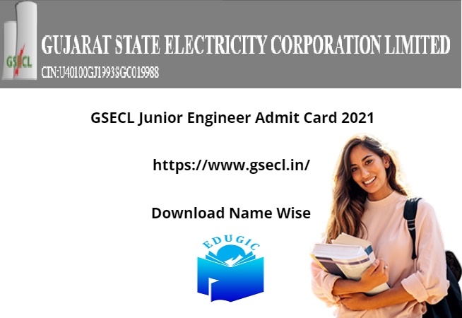 GSECL Junior Engineer Admit Card 2021