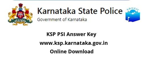 KSP PSI Answer Key
