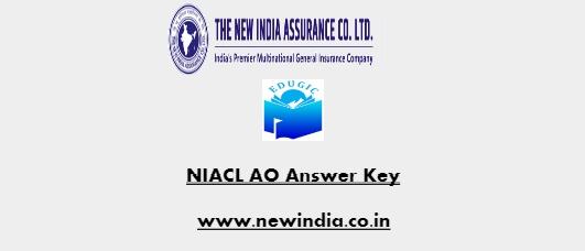 NIACL AO Answer Key
