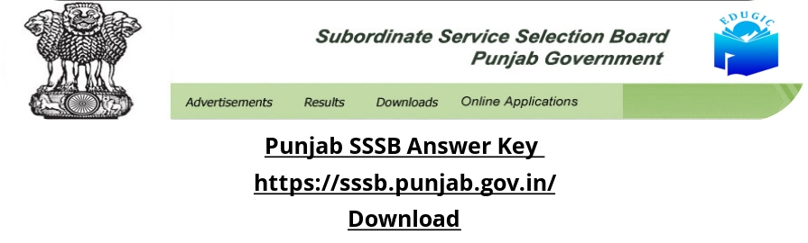 Punjab SSSB Answer Key