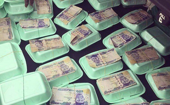 Party Food Packed With N500 Notes Attached (Photo)