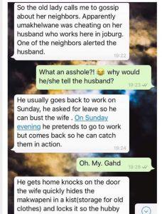 South African Man gossip