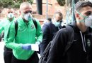 Coronavirus: Ludogorets Players Wear Masks As They Arrive Italy To Face Inter