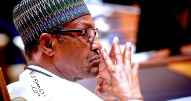 Again Nigerians occupy Abuja House in London, want Buhari sent home (Video)