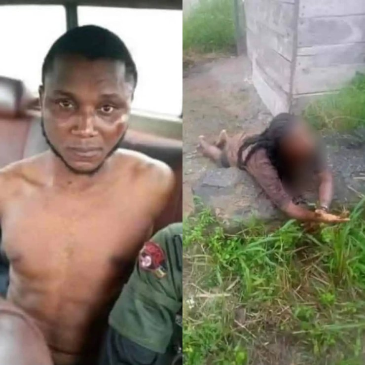 Suspected Yahoo Boy Caught While Attempting To Behead His Girlfriend For Rituals (Photos)
