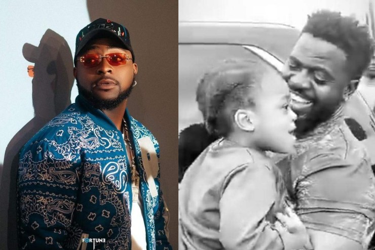 Cute Video Of Davido's Son Ifeanyi Blushing While Been Hailed On the Street