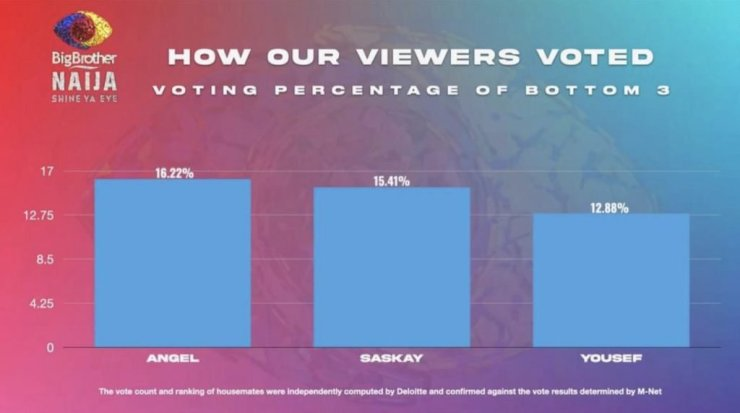 BBNaija: See how viewers voted that got Yousef and Saskay evicted