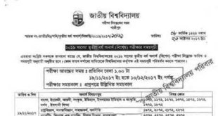 2016 Nu honours 3rd Year Exam Routine (spacial Course) Published-Nu.edu.bd