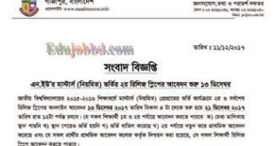 National University Masters Admission Release Slip Final Stage