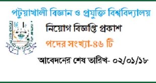 Patuakhali Science Technology University job Circular