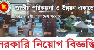 National Academy for Planning and Development Job circular 2018