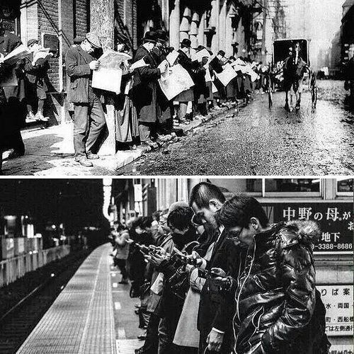 Street Newspapers Smartphones