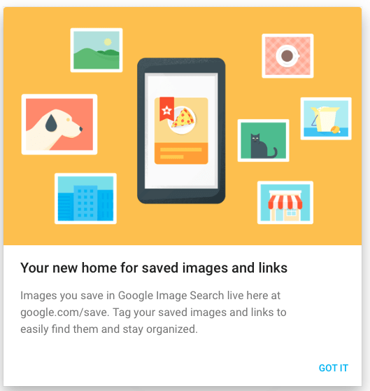 Sharing: Google Saves (new feature for Google Images, via @cogdogblog)