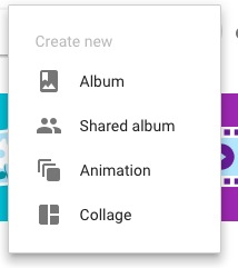 Create in Google Photos