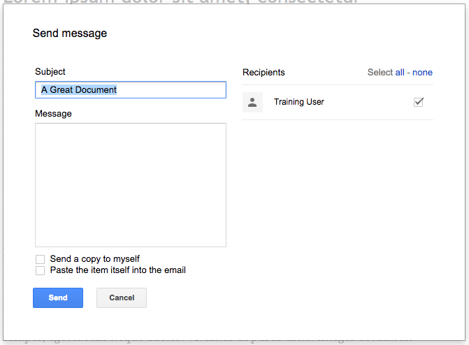 Easily notify Google Docs collaborators