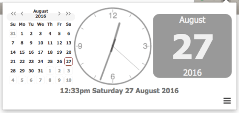 Clock for Chrome show calendar