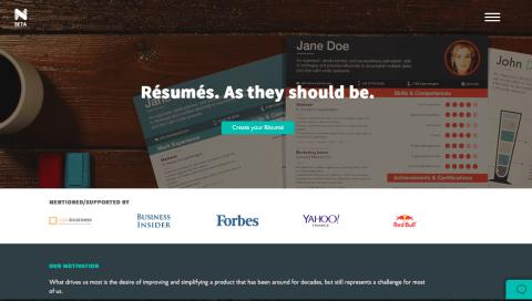 create good looking résumés with novorésumé eduk8me