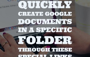 Quickly create Google documents in a specific folder through these special links