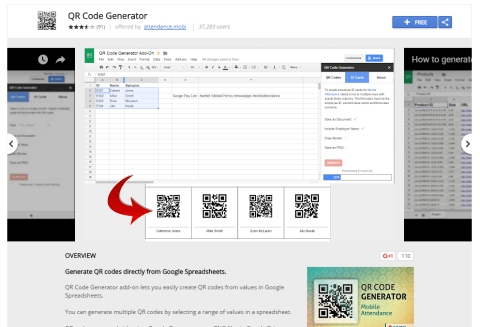 Easily create QR Codes in Google Sheets with the QR Code