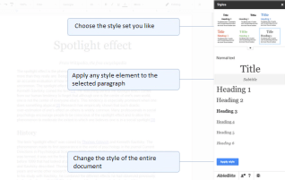 Choose from 12 sets of styles with this Google Docs add-on