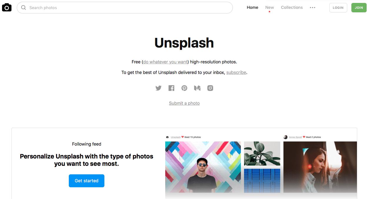 Image result for unsplash website