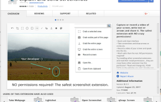 Explain and Send Screenshots is the quickest and easiest way to create screenshots in Chrome