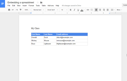 Embedding a Google Sheet in a Google Doc - #Eduk8me