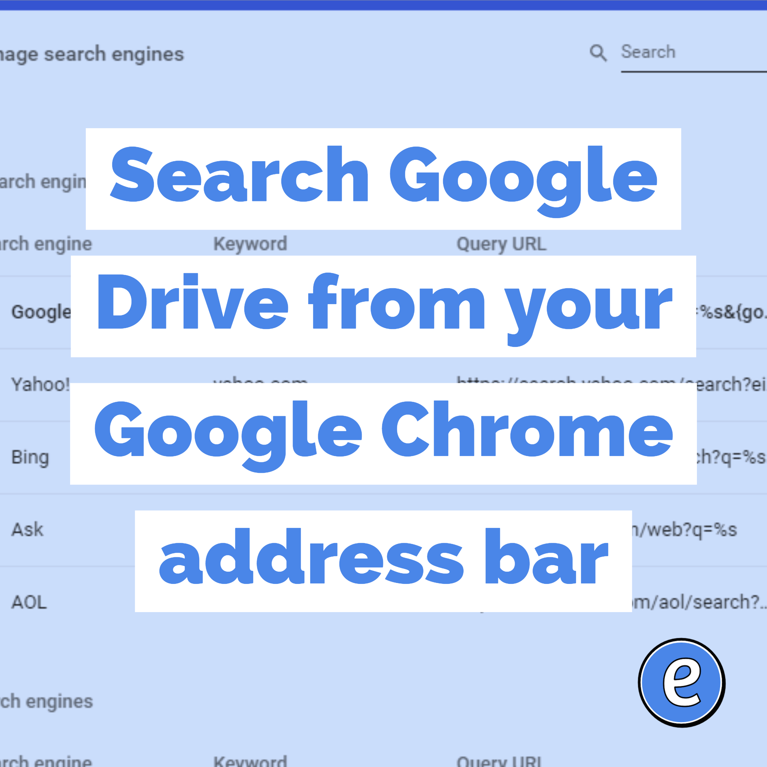 Search Google Drive from your Google Chrome address bar