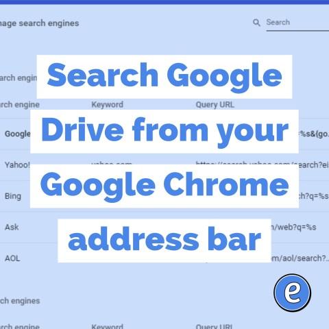 Search Google Drive from your Google Chrome address bar - #Eduk8me