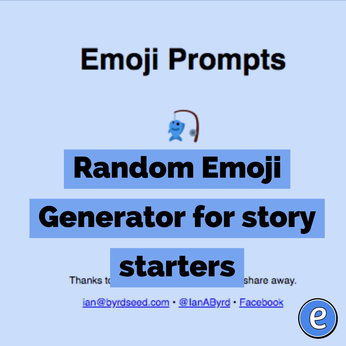 Random Emoji Generator for story starters