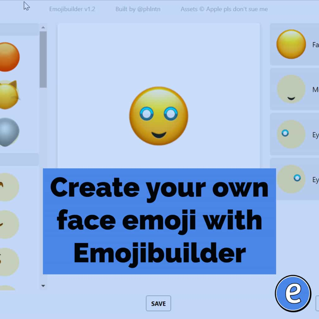 Create your own face emoji with Emojibuilder