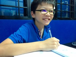 PSLE Student doing Mathematics Singapore in Tampines Tuition Centre Class