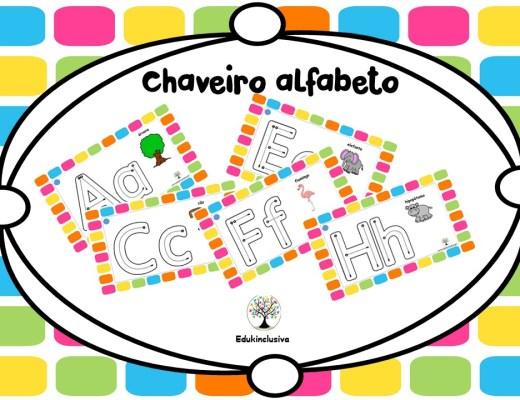cartões alfabeto orientadochaveiro