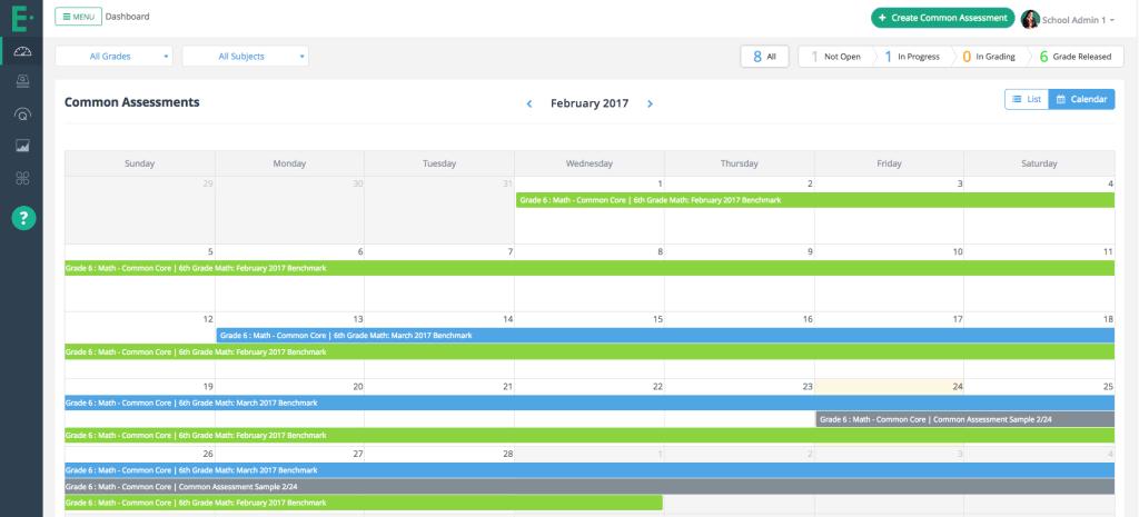 New Feature Calendar View Admin 2017