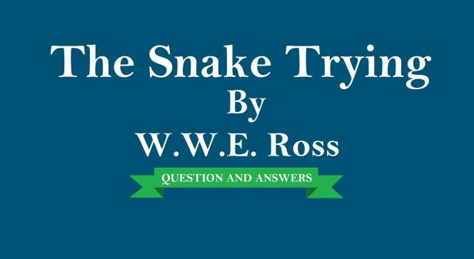 Class-9 Chapter-9 1 The Snake Trying- Extra Questions and
