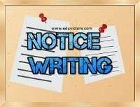 Notice Writing Samples, Examples and Format | Mantra of Education