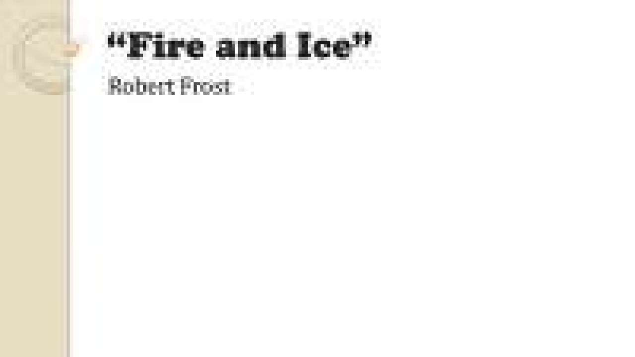 Chapter-2 1 Fire and Ice- Extra Questions and Notes |